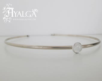 Moonstone tiara - medieval circlet - elven crown