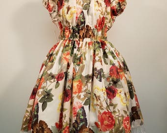 Floral Butterfly Onepiece Dress