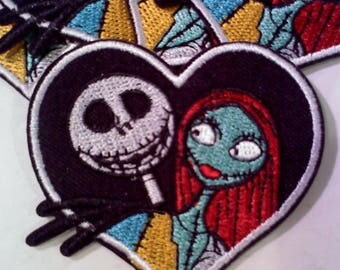 Nightmare Before Christmas Iron On Patch- Jack and Sally