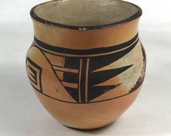 1930s Ceramic Hopi Pot with Geometric Decoration