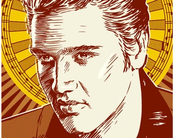 13 x 19 Elvis, Elvis Presley poster, Elvis Presley wall art, Elvis Presley art print, Elvis Presley art, Wall decor, Gift, Home decor