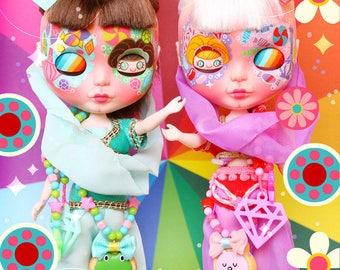 Caramelpops Custom Blythe Art Dolls (I dream of Jeannie Twins)