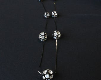 Studded Cluster Layer Necklace