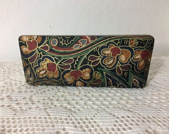 Never Used Vintage Eyeglass Case In A Pretty Floral Print ~ 80's/90's Vintage