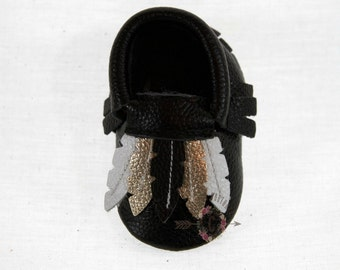 SALE WOW! Gypsy Gold  100% genuine leather baby moccasins Mocs moccs top quality, first birthday,