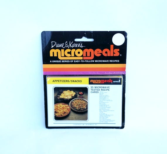 Vintage 1981 Micromeals Recipe Card Set by Diane and Karen - Unopened Still in Package