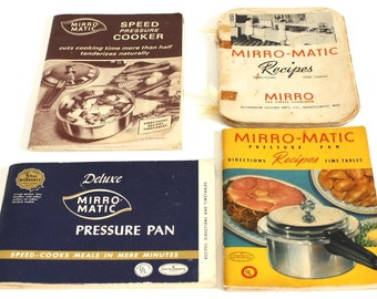 Vintage Mirro Pressure Cooker Recipe Book Instruction Manual Mirro-Matic 394M, etc