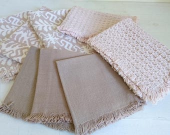 Vintage Woven Placemats - Linen Mix, Set x  8