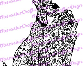 Lady and the Tramp Zentangle