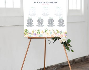 Seating Chart on Foam Core - Dreamy Garden (Style 0036)