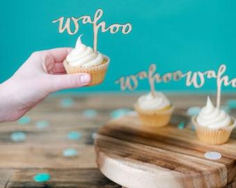WAHOO cake topper