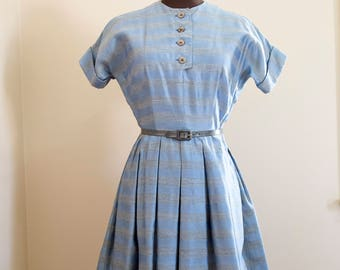 Kahn of Minnesota blue twilight dress size small- as is