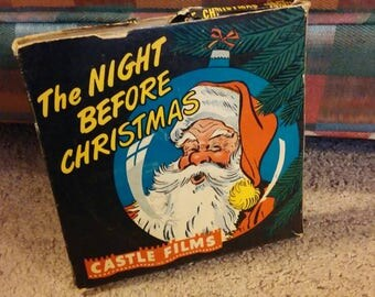 The Night Before Christmas, 16mm Film, Christmas Movie, Holiday Film, Vintage Christmas Movie, Night Before Christmas 16mm Castle Film Reel