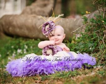 Lavender Feather Tutu Dress, Girls Feather Tutu Dress, Birthday Feather Tutus, Feather Tutu Dress, Ivory Feather Tutu Dress, Feather Tutus
