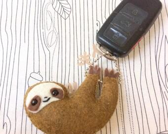 Sloth Keychain Charm