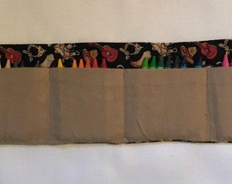 Western Crayon Roll w/ Crayons