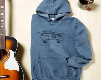 Outdoor Explorer Hooded Sweatshirt, Wanderlust hoodie outdoor shirt hiking sweatshirt nature lover shirt