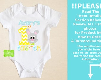 Personalized First Easter Iron On Transfer - Easter Bunny Iron On - Easter Iron On Transfer - Easter Bunny Decal - EMAILED or SHIPPED