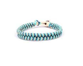 Beach Anklet, Neutral Bracelet, Surfer Bracelet, Thick Bracelet, Hemp Bracelet