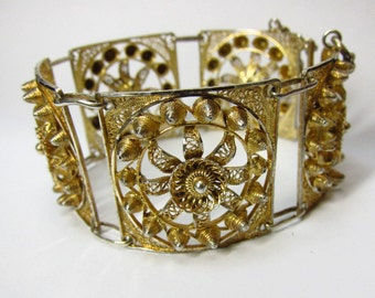 Vintage 800 Silver Panel Bracelet Bedoin