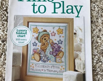 Time To Play, Luxury Foldout Chart from Cross Stitch Collection
