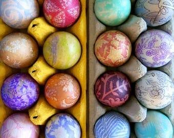 DIY Easter egg dyeing, Silk scraps, silk remnants, Easter egg decorating, Easter eggs, Easter egg hunt, Easter ideas