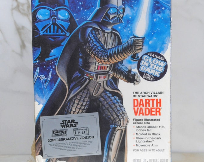 Vintage Star Wars, Darth Vader Model Kit by MPC Ertl in 1992. Commemorative Edition with a glow in the dark Saber!