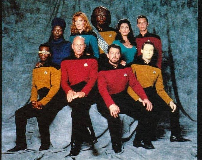 Vintage Postcard, Star Trek, The Next Generation, Cast, 1991