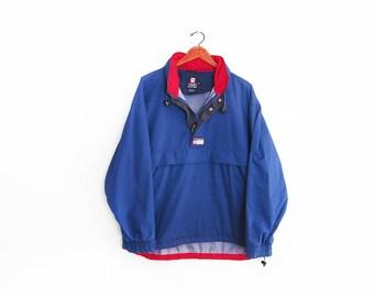 vintage windbreaker / Chaps windbreaker / 90s Ralph Lauren / 1990s Chaps Ralph Lauren red and blue windbreaker Medium