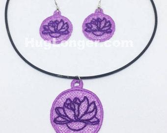 FSL Lotus Jewelry Set HL2047 embroidery file