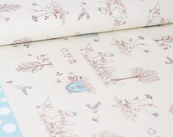 Shinzi Katoh | Japanese fabric - kawaii fabric - Snow White - oxford cotton - blue - 1/2 YD