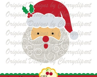 Christmas Santa Claus SVG Dxf Christmas Silhouette Cut Files, Cricut Cut Files CHSVG35 -Personal and Commercial Use