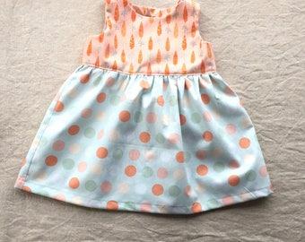 Baby girl dress toddler girl dress carrots polka dots first birthday dress