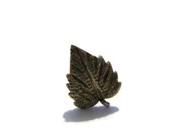 Vintage Black Hills Sterling Leaf Tack Pin
