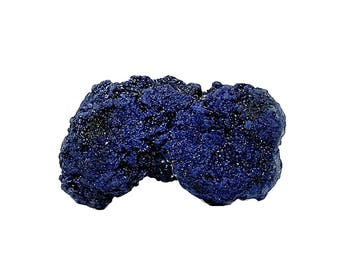Azurite Blue Crystalline Druzy Mineral Specimen mined in Morocco,  Earth Copper Geo Sparkly! Gemstone Wear it or Display it