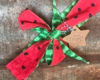 Headwrap/Bow, Watermelon Hairbow, Watermelon Headband, Watermelon Accessories, Watermelon Birthday, Watermelon Hair Piece, Watermelon Bow