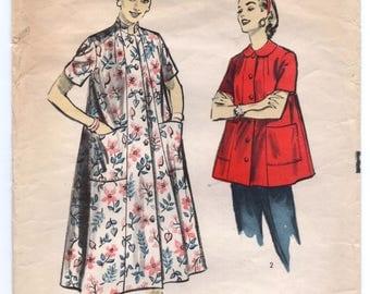 "1950's Advance Long or Short Coat Pattern - Bust 36"" - No. 7716"