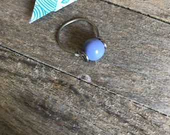 periwinkle thin glass ring
