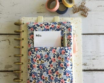 Ready to  ship,Rifle Paper Co.fabric  Happy Planner pouch, planner organizer, daily planner pouch, zip bag, journal cover pouch,