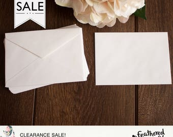 CLEARANCE - RSVP 4BAR Envelopes { White }