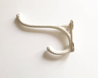 Cream Wall Hook. Coat Hangers. Farmhouse Style Entry Decor. Mudroom Organization. Metal Key Holder. Bath Towel Rack.