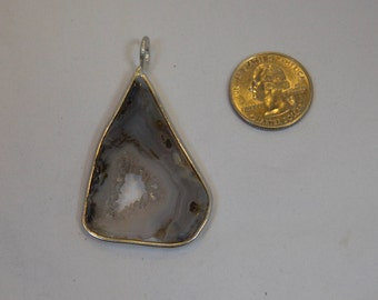 Druzy Agate Geode Pendant