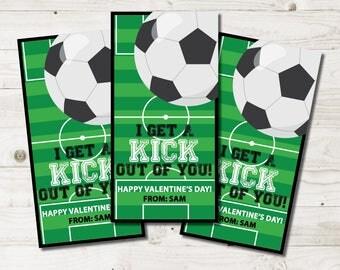 Soccer Valentines cards kids, soccer school valentines cards, boy soccer valentines, girl soccer valentines, sports Printable Classroom PDF