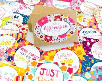 Affirmation Cards Boxed Set of 30, Positive Mini Affirmation Cards, Inspirational Quotes, Mini Encouragement Cards, Anxiety Cards