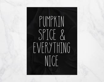 Pumpkin Spice and Everything Nice, Fall Pumpkin Decor, Home Gifts, Dorm Decor for Friends, Black Decor, Pumpkin Decor, Soft Fleece Blankets