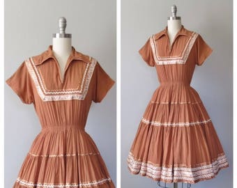 vintage 1950s patio dress size xs - small