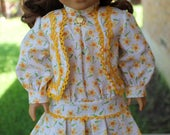 """18"""" Doll Clothes Historical Early 1900's Style Dress Fits American Girl Rebecca, Samantha, Nellie"""