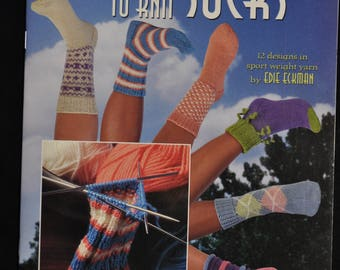 SOCKS - Learn to Knit - 12 Designs - 24 page booklet
