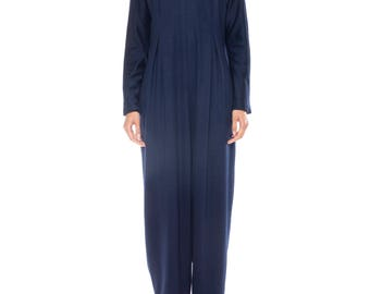 Geoffrey Beene Wool Jumpsuit Lined In Silk Size: 8