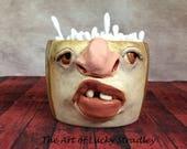 BOWL - medium ceramic,  w...